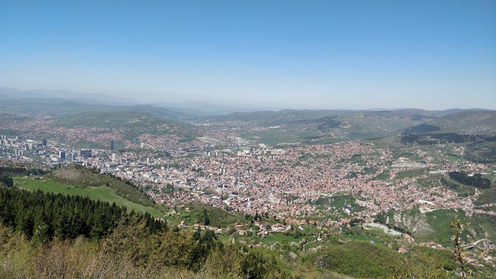 Вигляд на Сараєво з гори