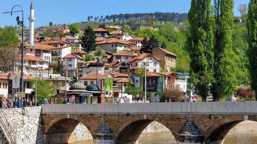Просто крутий вигляд будиночків Сараєво